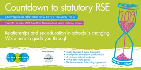 Countdown to Statutory RSE event poster